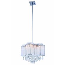 Elegant 2107DF15C/RC - 2107 Aspen Colloection Chandelier L:15 in W:15in H:14.5in Lt:8 Chrome Finish (Royal Cut Crystals)