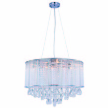 Elegant 2115DF24C/RC - 2115 Noble Collection Chandelier D:24in H:18in Lt:9 Chrome Finish (Royal Cut Crystals)