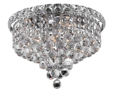 Elegant 2527F12C/RC - 2527 Tranquil Collection Flush Mount D12in H9in Lt:4 Chrome Finish (Royal Cut Crystal)
