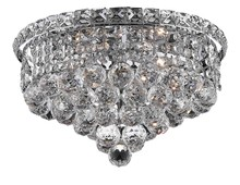 Elegant 2527F14C/RC - 2527 Tranquil Collection Flush Mount D14in H9in Lt:4 Chrome Finish (Royal Cut Crystal)