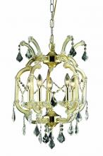 Elegant 2800D15G/EC - 2800 Maria Theresa Collection Pendant D:15.5in H:23in Lt:5 Gold Finish (Elegant Cut Crystals)