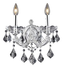 Elegant 2800W2C/RC - 2800 Maria Theresa Collection Wall Sconce D:12in H:16in E:8.5in Lt:2 Chrome Finish (Royal Cut Crysta