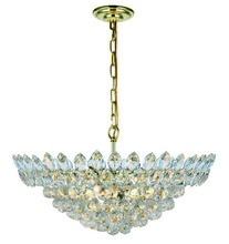 Elegant 3002D24G/RC - 3002 Vesper Collection Chandelier D:24in H:9.2in Lt:11 Gold Finish (Royal Cut Crystals)