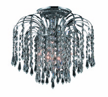 Elegant 6801F12C/RC - 6801 Falls Collection Flush Mount D:12in H:12in Lt:3 Chrome Finish (Royal Cut Crystals)