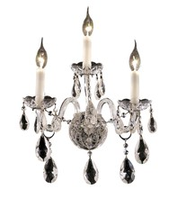 Elegant 7829W3C/RC - 7829 Alexandria Collection Wall Sconce D:13in H:18in E:8.5in Lt:3 Chrome Finish (Royal Cut Crystals)