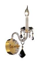 Elegant 7831W1G/RC - 7831 Alexandria Collection Wall Sconce D:4in H:15in E:8.5in Lt:1 Gold Finish (Royal Cut Crystals)