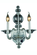 Elegant 7872W10C - 7872 Champlain Collection Wall Sconce D:10in H:17in E:9.5in Lt:2 Chrome Finish (Royal Cut Crystals)