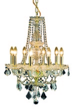 Elegant 7898D21G/RC - 7898 Giselle Collection Chandelier D:21in H:28in Lt:8 Gold Finish (Royal Cut Crystals)