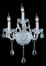 Elegant 7953W3C/EC - 7953 Verona Collection Wall Sconce D:14in H:20in E:8.5in Lt:3 Chrome Finish (Elegant Cut Crystals)