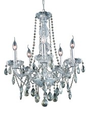Elegant 7955D21C-GT/RC - 7955 Verona Collection Chandelier D:21in H:26in Lt:5 Chrome Finish (Royal Cut Crystals)