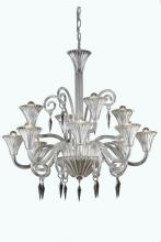 Elegant 8812D37CL/EC - 8812 Symphony Collection Hanging Fixture D37in H37in Lt:12 Clear Finish (Elegant Cut Crystal Clear)