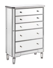 Elegant MF6-1026S - 5 Drawer Cabinet 33 in. x 16 in. x 49 in. in Silver paint