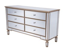 Elegant MF6-1136G - 6 Drawers Cabinet 60 in. x 20 in. x 34 in. in Gold paint