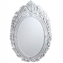 Elegant MR-2017C - Venetian 32.75 in. Transitional Mirror in Clear