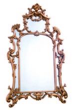 Elegant MR-2042 - Antique 28.75 in. Traditional Mirror in Antique gold leaf