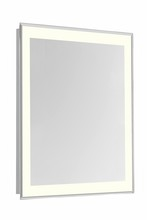 "Elegant MRE-6112 - 4 Sides LED Edge Electric Mirror Rectangle W20""H40"" Dimmable 3000K"
