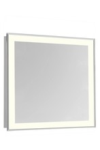 "Elegant MRE-6119 - 4 Sides LED Edge Electric Mirror Rectangle W36""H36"" Dimmable 3000K"
