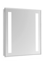 "Elegant MRE-6303 - 2 Sides LED  Electric Mirror Rectangle W24""H30"" Dimmable 5000K"