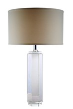 Elegant TL1004 - Regina  Collection 1-Light Chrome Crystal Table Lamp