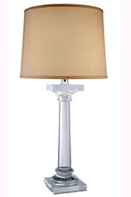 Elegant TL1005 - Regina  Collection 1-Light Chrome Crystal Table Lamp