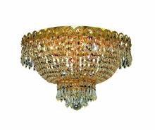 Elegant V1900F16G/RC - 1900 Century Collection Flush Mount D:16in H:10in Lt:4 Gold Finish (Royal Cut Crystals)
