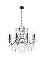 Elegant V2015D26DB/EC - 2015 St. Francis Collection Chandelier D:26in H:23in Lt:8 Dark Bronze Finish (Elegant Cut Crystals)