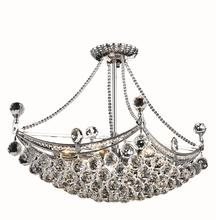 Elegant V9800D24C/EC - 9800 Corona Colloection Chandelier L:24 in W:14in H:18in Lt:6 Chrome Finish (Elegant Cut Crystals)