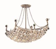 Elegant V9800D28C/RC - 9800 Corona Colloection Chandelier L:28 in W:16in H:20in Lt:8 Chrome Finish (Royal Cut Crystals)