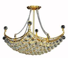 Elegant V9800D28G/RC - 9800 Corona Colloection Chandelier L:28 in W:16in H:20in Lt:8 Gold Finish (Royal Cut Crystals)