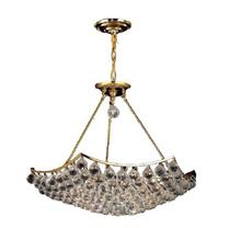 Elegant V9802D26G/RC - 9802 Corona Collection Chandelier D:26in H:21in Lt:12 Gold Finish (Royal Cut Crystals)