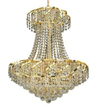 Elegant VECA1D22G/RC - Belenus Collection Chandelier D:22in H:26in Lt:11 Gold Finish (Royal Cut Crystals)