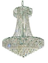 Elegant VECA1D26C/RC - Belenus Collection Chandelier D:26in H:32in Lt:15 Chrome Finish (Royal Cut Crystals)