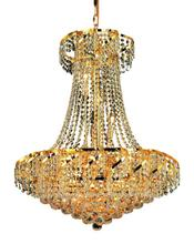 Elegant VECA1D26G/RC - Belenus Collection Chandelier D:26in H:32in Lt:15 Gold Finish (Royal Cut Crystals)