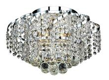 Elegant VECA1F16C/RC - Belenus Collection Flush Mount D:16in H:10in Lt:6 Chrome Finish (Royal Cut Crystals)