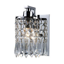 ELK Lighting 11228/1 - Optix 1-Light Vanity Lamp in Polished Chrome with Clear Crystal