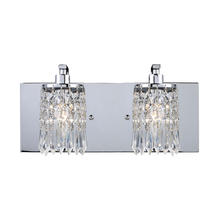 ELK Lighting 11229/2 - Optix 2-Light Vanity Sconce in Polished Chrome with Clear Crystal