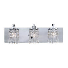 ELK Lighting 11230/3 - Optix 3-Light Vanity Sconce in Polished Chrome with Clear Crystal