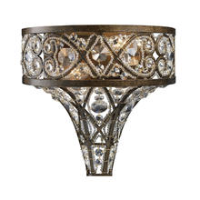 ELK Lighting 11284/2 - Amherst 2-Light Sconce in Antique Bronze with Clear Crystal and Beaded Glass Diffuser