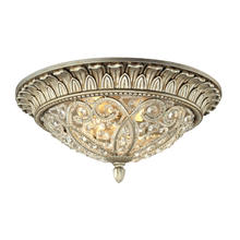ELK Lighting 11693/2 - Andalusia 2 Light Flush Mount In Aged Silver