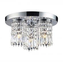 ELK Lighting 1990/3 - Optix 3-Light Semi Flush in Polished Chrome with 32% Lead Crystal