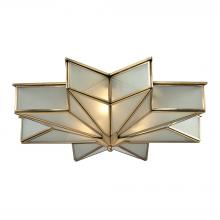 ELK Lighting 22011/3 - Decostar 3 Light Flushmount In Brushed Brass