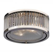 ELK Lighting 46102/2 - Linden Manor 2 Light Flushmount In Crystal And P