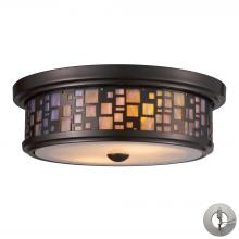 ELK Lighting 70027-2-LA - Tiffany Flushes 2 Light Flushmount In Oiled Bron