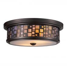 ELK Lighting 70027-2 - Tiffany Flushes 2 Light Flushmount In Oiled Bron